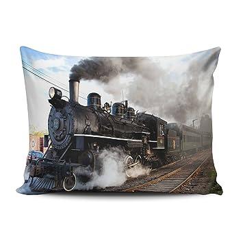 Amazon.com: zedae funda de almohada personalizado Cool tren ...