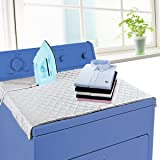 """HOMILA Ironing Blanket, Portable Ironing Double Strength Magnetic Mat Laundry Pad, 33"""" x 18.5"""", Quilted Washer Dryer Heat Resistant Pad, Ironing Board Cover,Grey"""