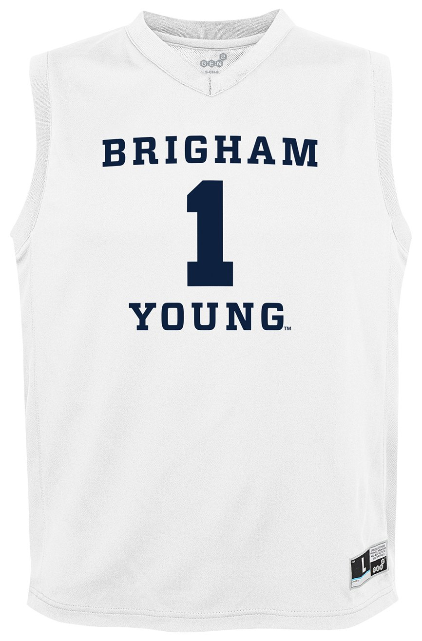 10-12 Youth Medium NCAA by Outerstuff NCAA Byu Cougars Youth boys Chase Basketball Jersey White