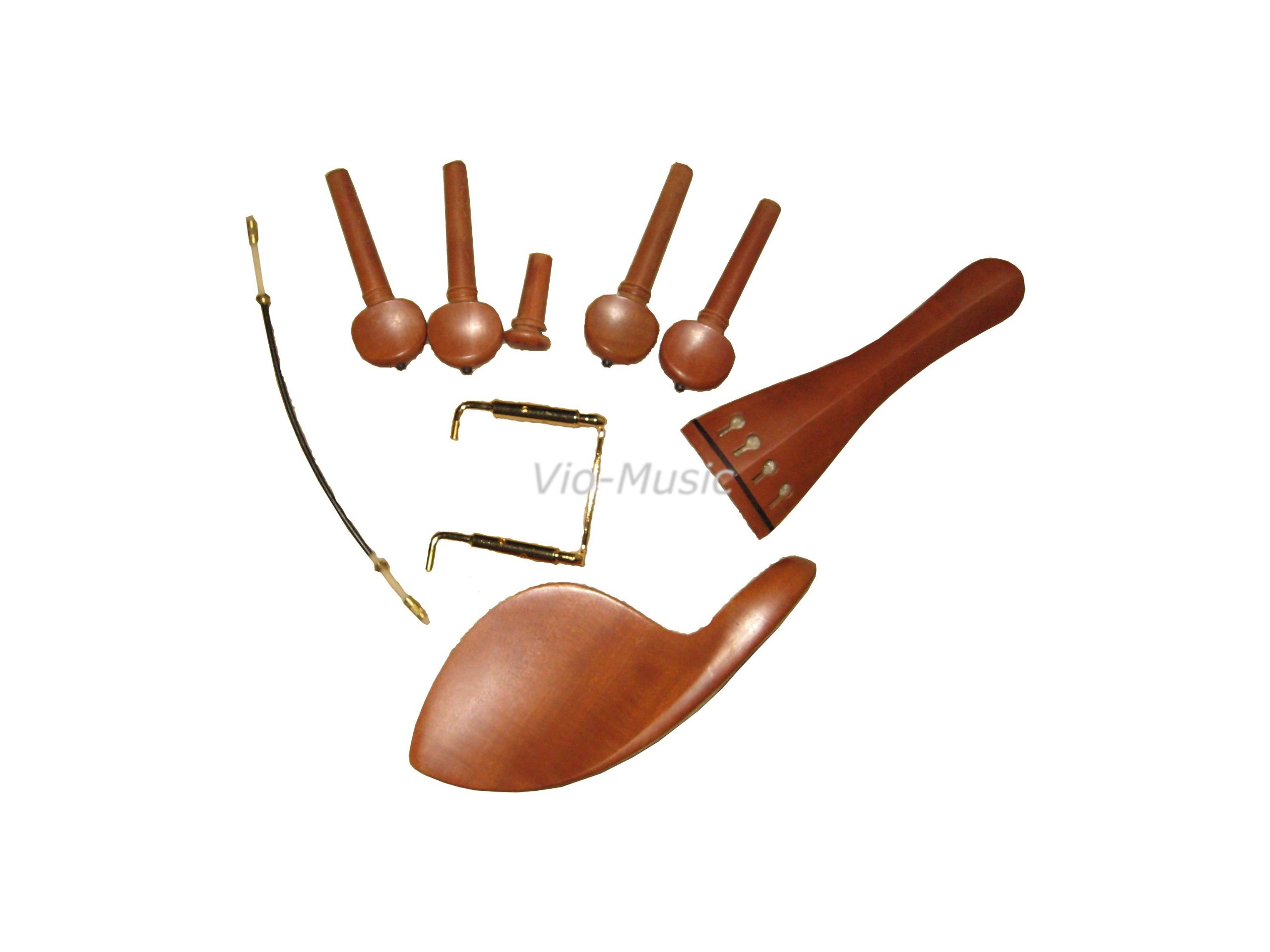 All in One:violin Chinrest, Pegs,end Pin, Clamp, Tail Piece&tail Gut, Jujube,4/4