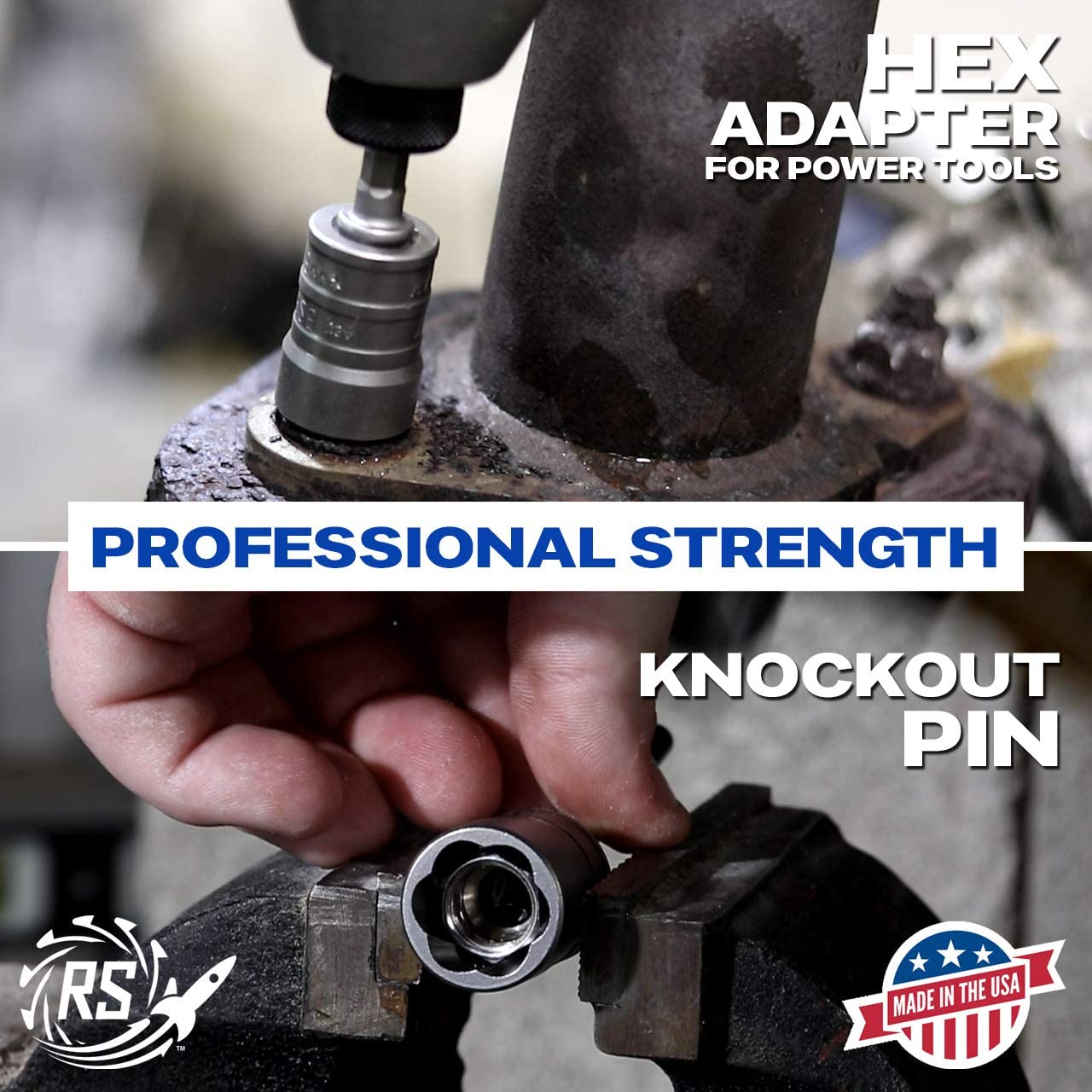 ROCKETSOCKET Rounded-Off Bolts 100/% USA Steel 1//4 Drive Extraction Socket Set Nuts /& Screws Rusted Removes Frozen fits 11 sizes of SAE /& Metric Made in USA 8 pieces