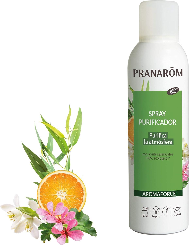Pranarôm - Aromaforce - Spray Purificador Bio Naranja Dulce y Ravintsara - Purifica la atmósfera - 150 ml