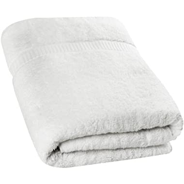 Utopia Towels - Soft Cotton Machine Washable Extra Large Bath Towel (35-Inch-by-70-Inch) - Luxury Bath Sheet - White
