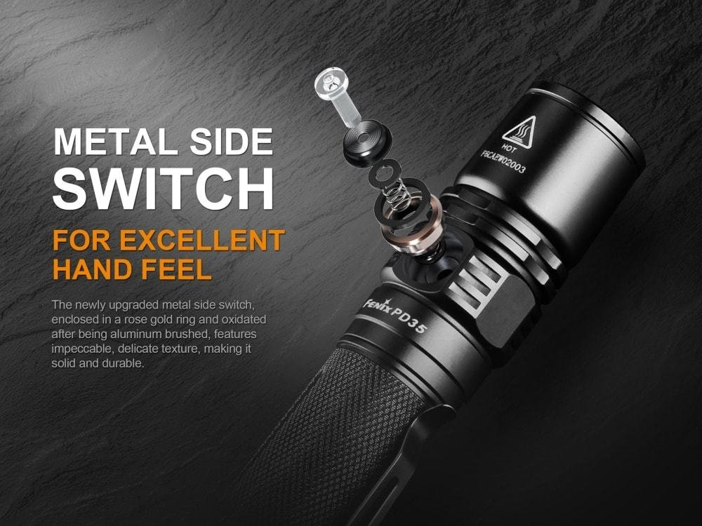 Fenix PD35 V2.0 2018 Upgrade 1000 Lumen Flashlight with Fenix 2600mAh Built-in USB Rechargeable Battery & LumenTac Charging Cable by Fenix (Image #4)