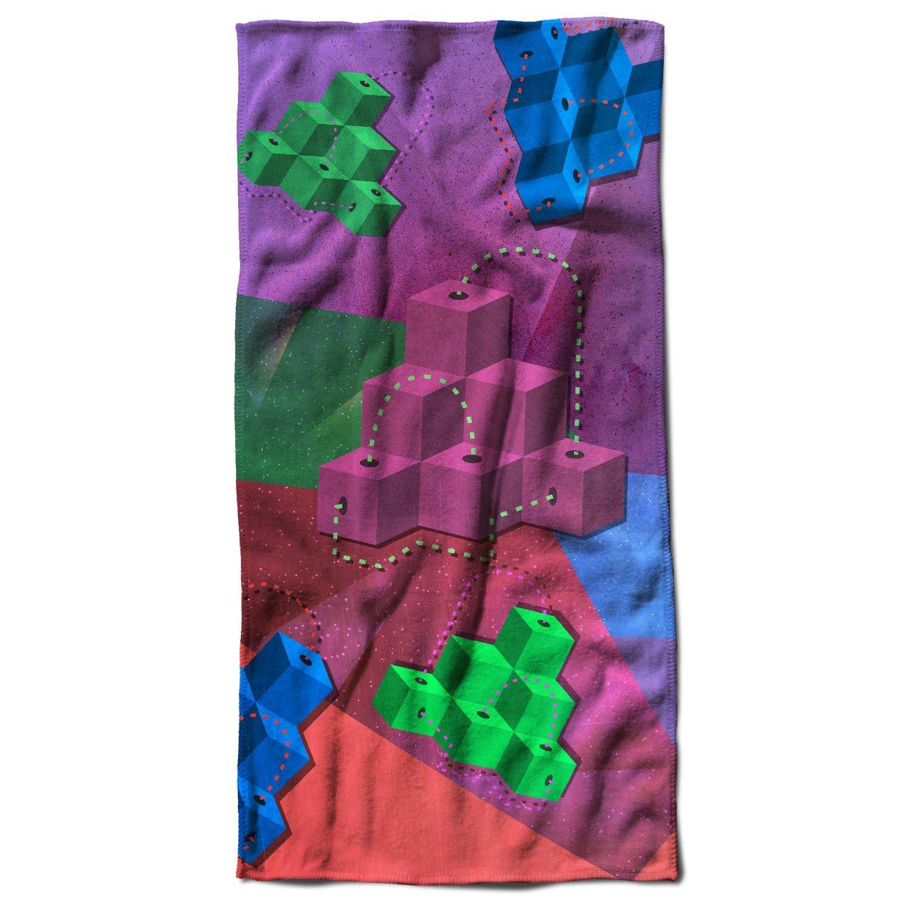 Dados modisch Imprimir Mode geométrico Toalla | Well Coda, microfibra, multicolor, 50cm x 100cm: Amazon.es: Hogar