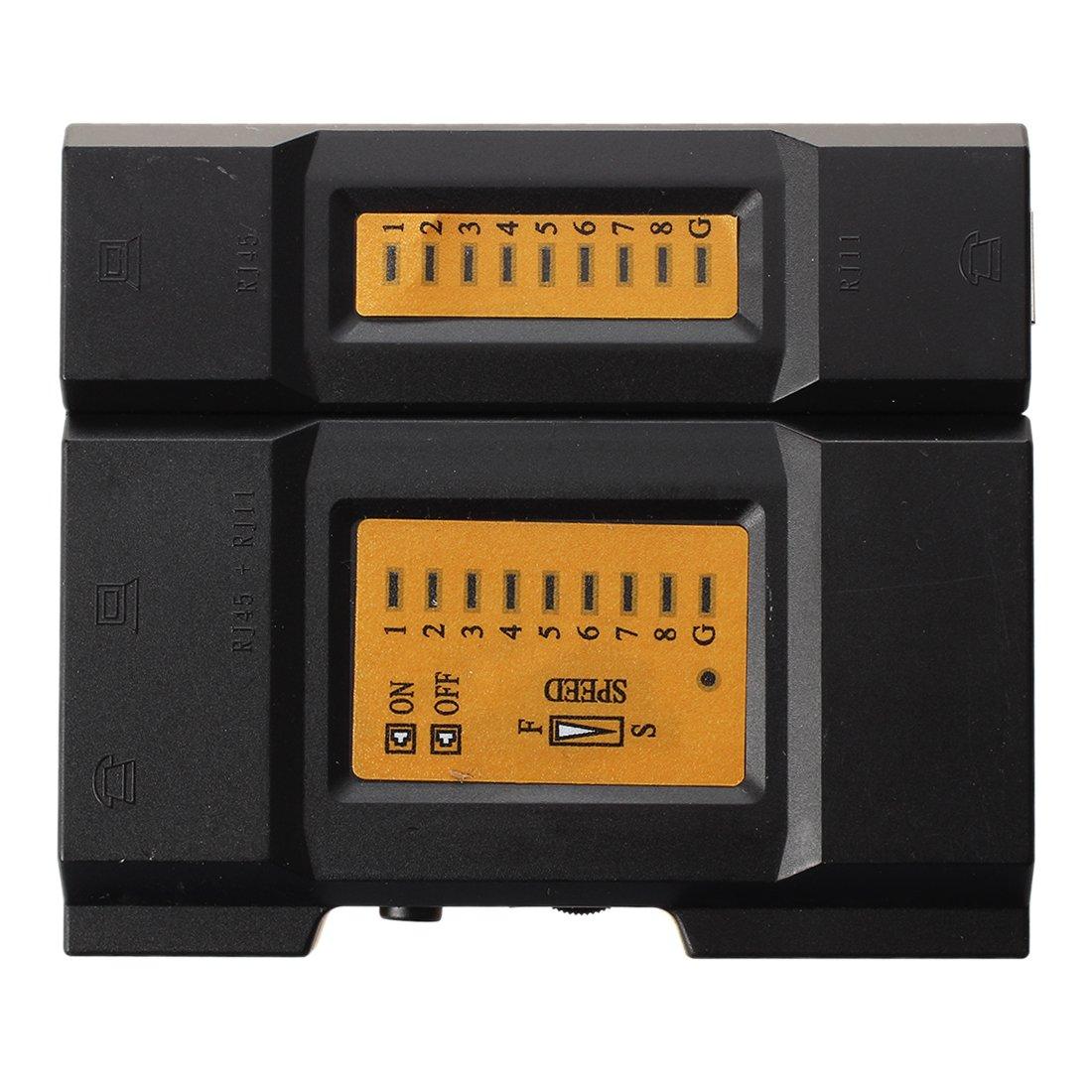 SODIAL(R) Handheld Wire RJ45 RJ11 Ethernet Network LAN Cable Tester 022126