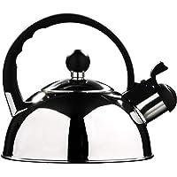 Premier Housewares - Tetera hervidor con Silbato (Acero