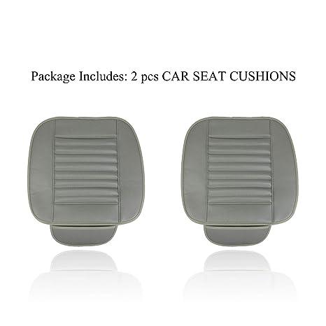 Amazon.com: REMEE - 2 cojines de asiento de coche de piel ...