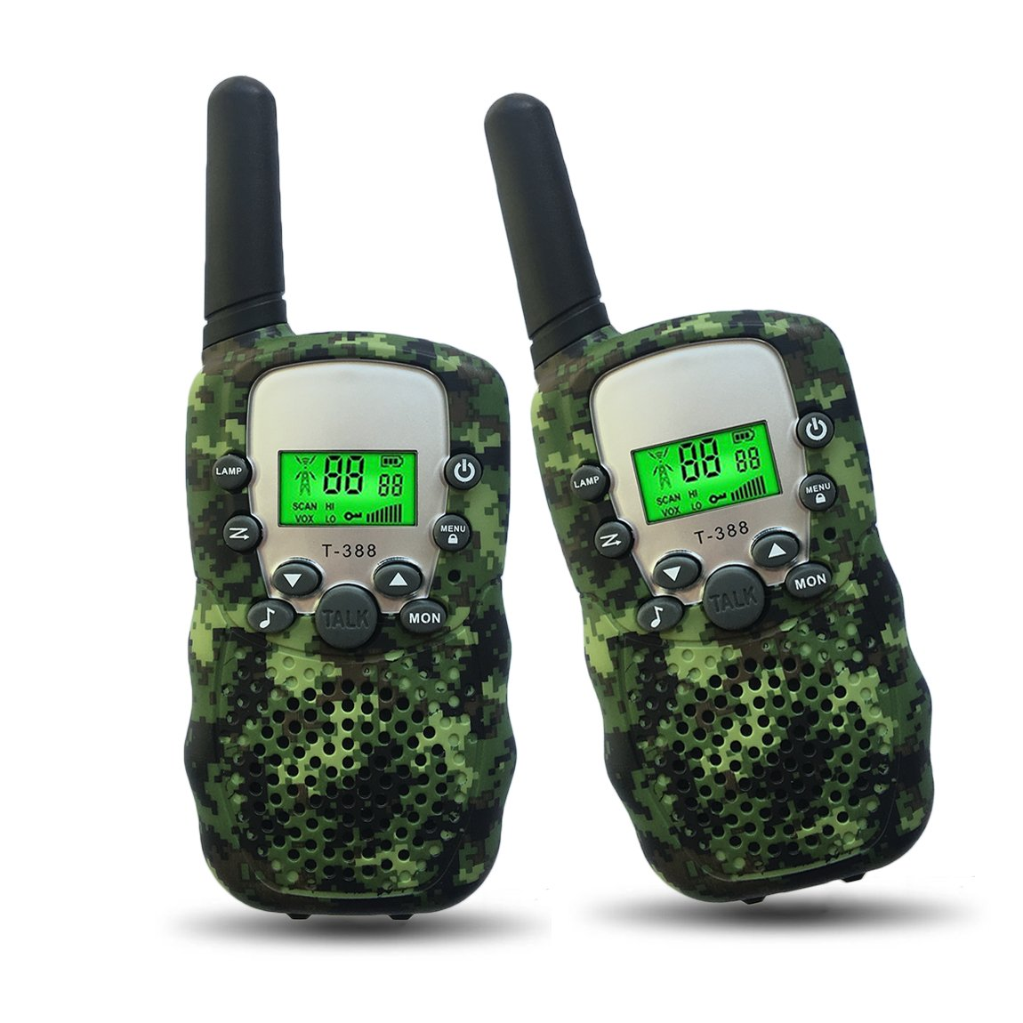 Outdoor Toys for Kids 5-10 Year Old Joyfun Walkie Talkies for Kids Boys Long Distance Teens Hiking Children's Gifts for Boys 6, 7, 8+ Year Old Camo - 1 Pair