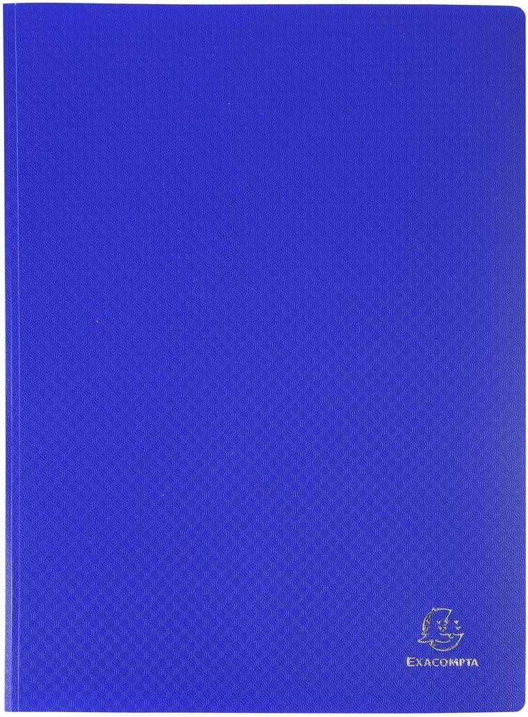 Exacompta 88660E Portalistini Opak in polipropilene opaco con buste interne lisce ad alta trasparenza Formato A4 Colore  pastello blu corallo malva rose verde 60 buste e 120 facciate