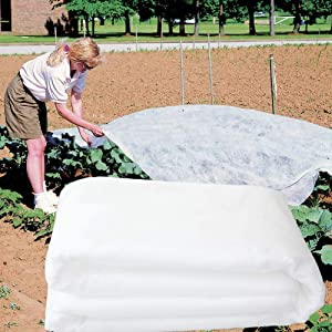 TYLife Plant Covers Freeze Protection,0.9oz 8Ft x 24Ft Rectangle Reusable Floating Row Cover for Cold Weather, Garden Winterize Cover, Winter Frost Protection & Plant Growth Season