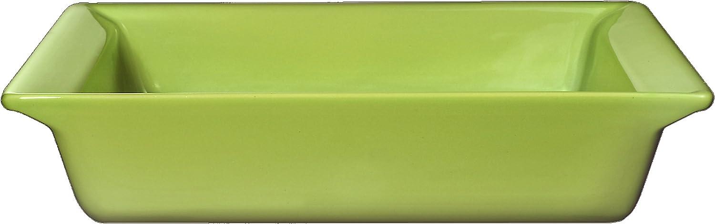 Emile Henry 10-Inch Square Baker, Green Apple