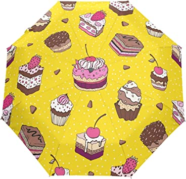Enjoyable Amazon Com U Life Cute Birthday Cake Dessert Yellow Polka Dots Personalised Birthday Cards Veneteletsinfo