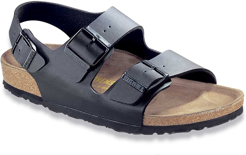 Birkenstock Milano Sandals Birko Flor EUR 35 Narrow Black Birko Flor