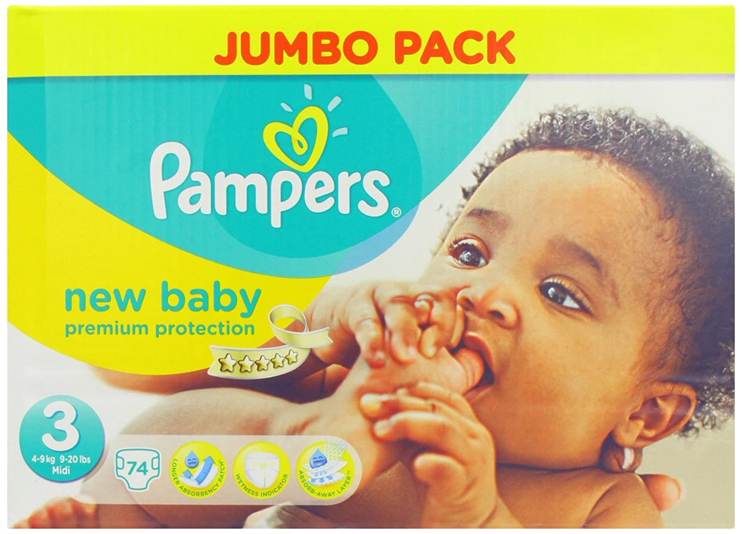 Pampers new baby nappies 2014 size 3 74 nappies amazon pampers new baby nappies 2014 size 3 74 nappies amazon health personal care nvjuhfo Image collections