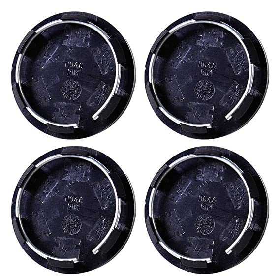 ZHUOTOP - 4 tapacubos universales de 50 mm para llantas de coche, color negro: Amazon.es: Coche y moto