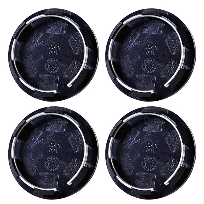 Amazon.com: ZHUOTOP - 4 tapacubos universales de 50 mm para llantas de coche, color negro: Automotive