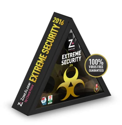 ZONEALARM Internet Extreme Security 2016 Antivirus Firewall Software | 3 PCs, 3 Mobiles | 1 Year [Download]