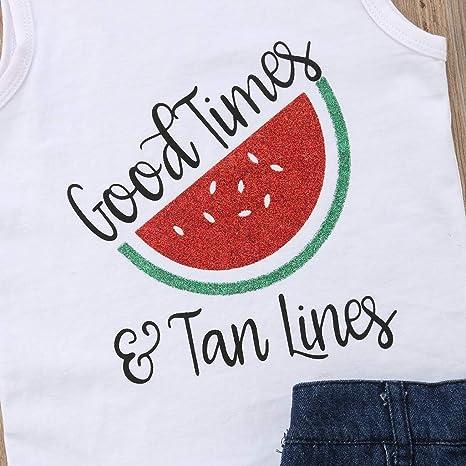 Baby Girls Dress,Fineser Baby Girls Sleeveless Sundress Fruits Pineapple Watermelon Print Toddler Casual Dress Outfits