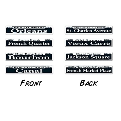 Mardi Gras Street Sign Cutouts (4/Pkg): Kitchen & Dining