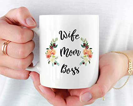 amazon com wife mom boss mug gift for wife mother s day gift from