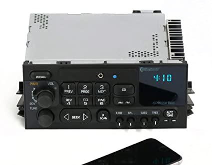 38fc407651f2d 1 Factory Radio AM FM Radio w Aux Input Bluetooth CD Controls Compatible  With 1995-05 Chevrolet GMC Truck