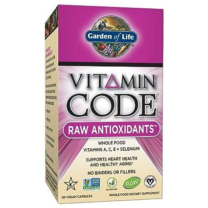 Jardín de la vida vitamina código crudo Antioxidantes (30 Ultra Zorb vegano Cápsulas)