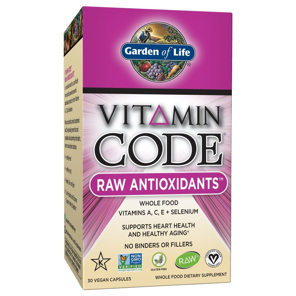 Garden of Life Antioxidant - Vitamin Code Raw Whole Food Vitamin Supplement with Probiotic and Enzyme Blend, Vegan, 30 Capsules