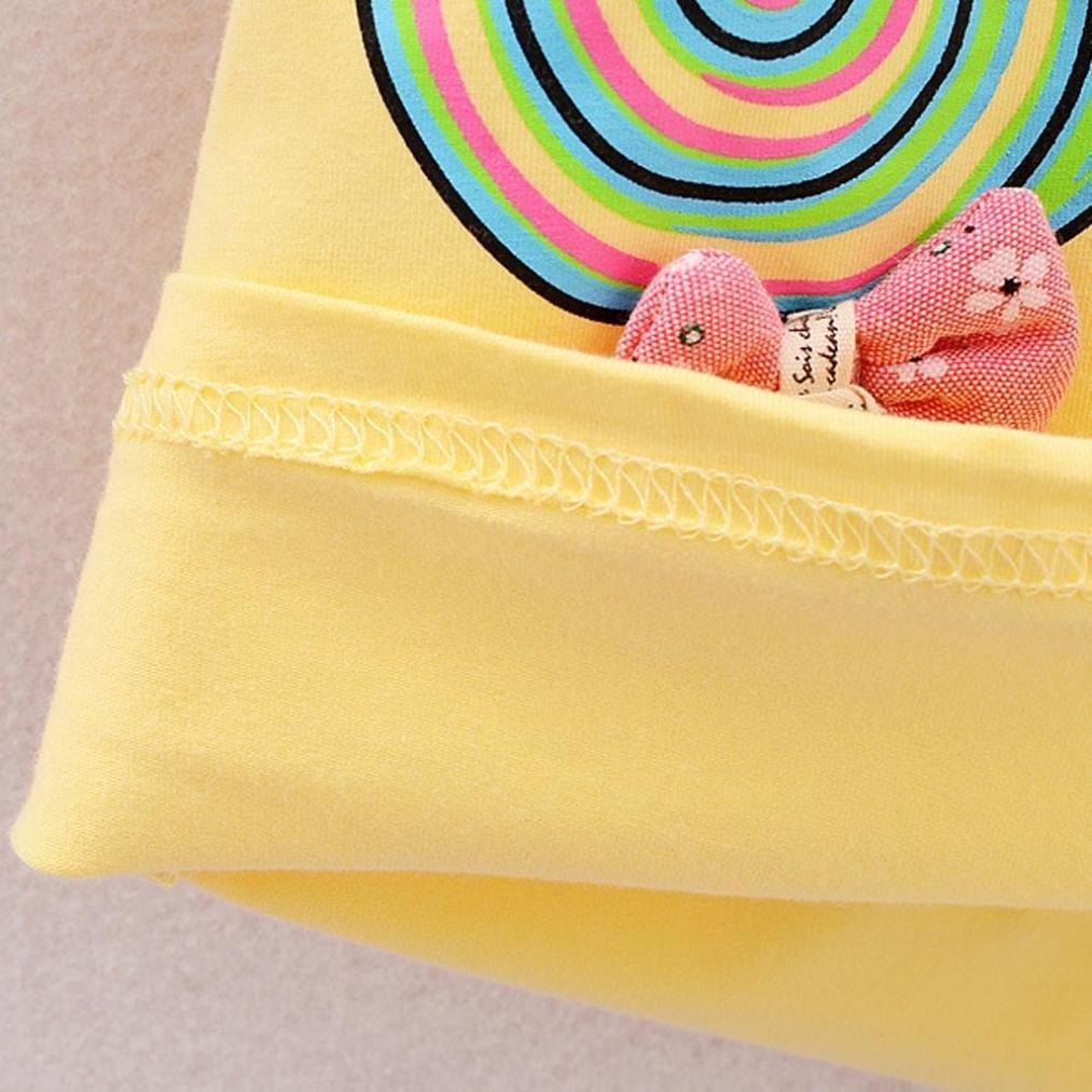 Amarillo, Tama/ño:3 A/ños 4 A/ños ❤️ Amlaiworld Bebe Ni/ña Camiseta Sin mangas y Pantalones cortos Florales Verano Conjunto de Ropa 12 Mes