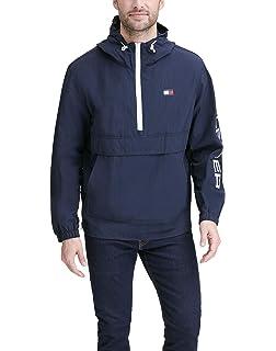 Tommy Hilfiger Mens Retro Lightweight Taslan Popover Jacket