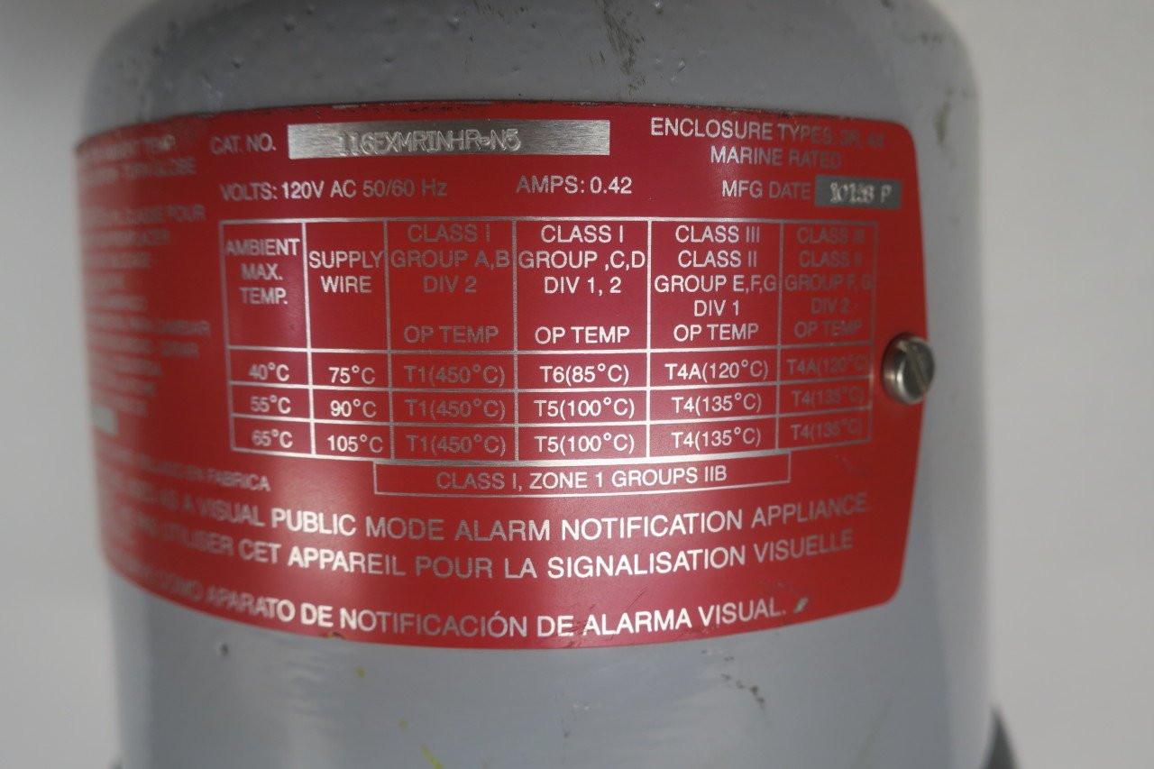 Edwards 116EXMRINHR-N5 Explosion Proof RED Rotating Beacon 120V-AC D593403: Amazon.com: Industrial & Scientific