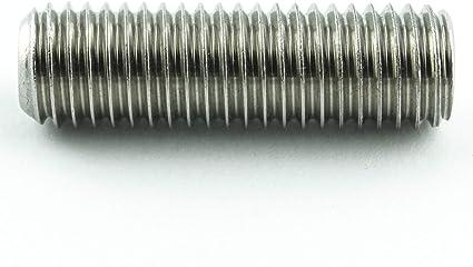 ISO 4026 A2 acero inoxidable Tornillos prisioneros M6 x 6 con hex/ágono interior y punta c/ónica 25 unidades