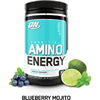 OPTIMUM NUTRITION ESSENTIAL AMINO ENERGY, Blueberry Mojito, Keto Friendly Preworkout and Essential Amino Acids with Green Tea and Green Coffee Extract, 30 Servings