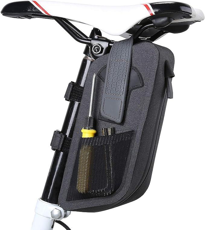 BEEWAY Bike Saddle Bag Water Strap-on Cycling Wedge Bicycle Seat Pack Bag