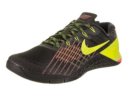 Nike Men's Metcon 3 Training Shoe Black/Volt Hyper Crimson HOT Punch