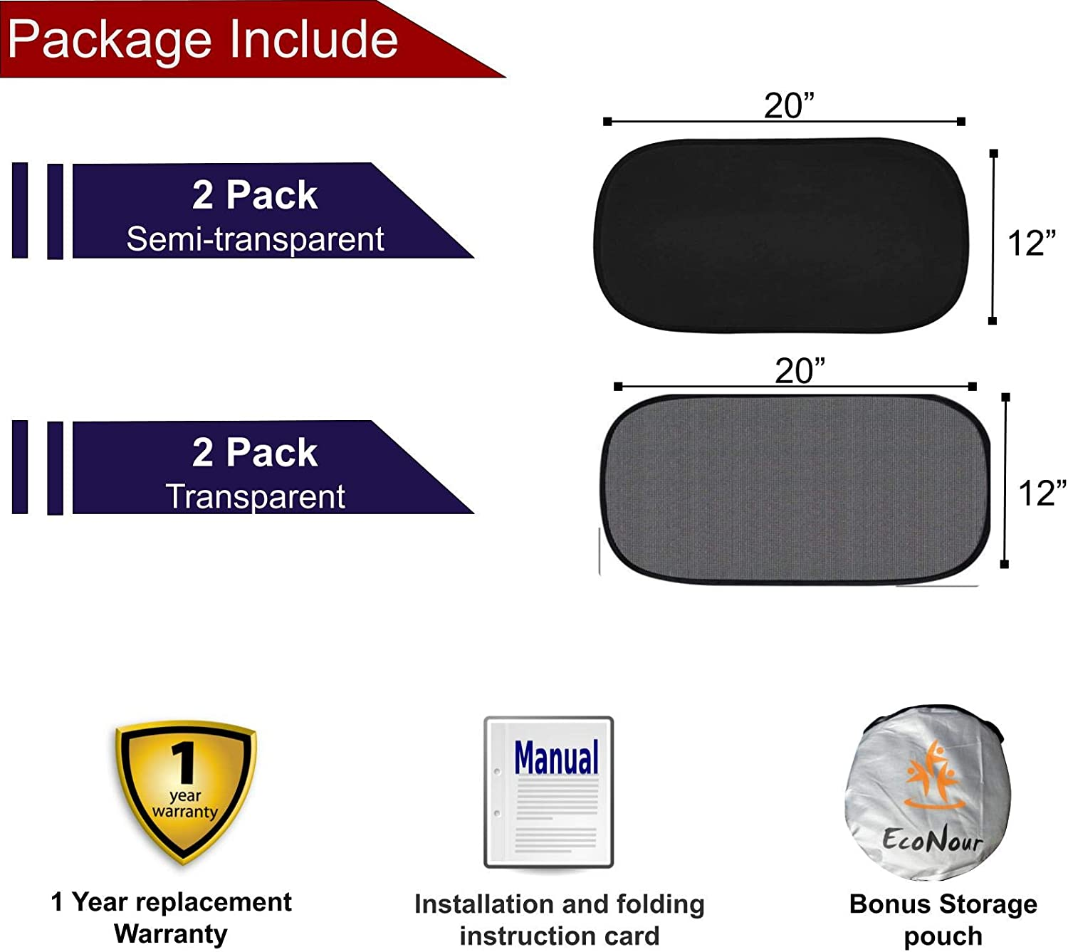 Interior Accessories Car Sun Protector with 80 GSM and 15s Film ...