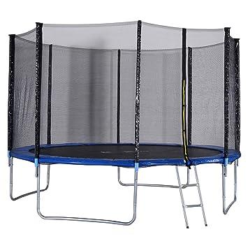Amazon.com: GYMAX - Cama elástica, espaciosa cama elástica ...