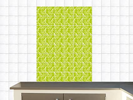 Adesivi piastrelle adesivo per cucina decorazioni foglie verde
