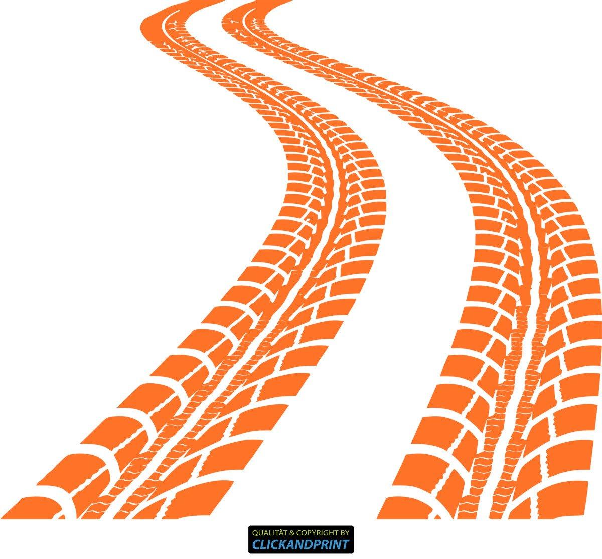 CLICKANDPRINT Aufkleber » Reifen-Spuren, 120x103,7cm, Schwarz • Wandtattoo   Wandaufkleber   Wandsticker   Wanddeko   Vinyl B01N5IYZZO Wandtattoos & Wandbilder