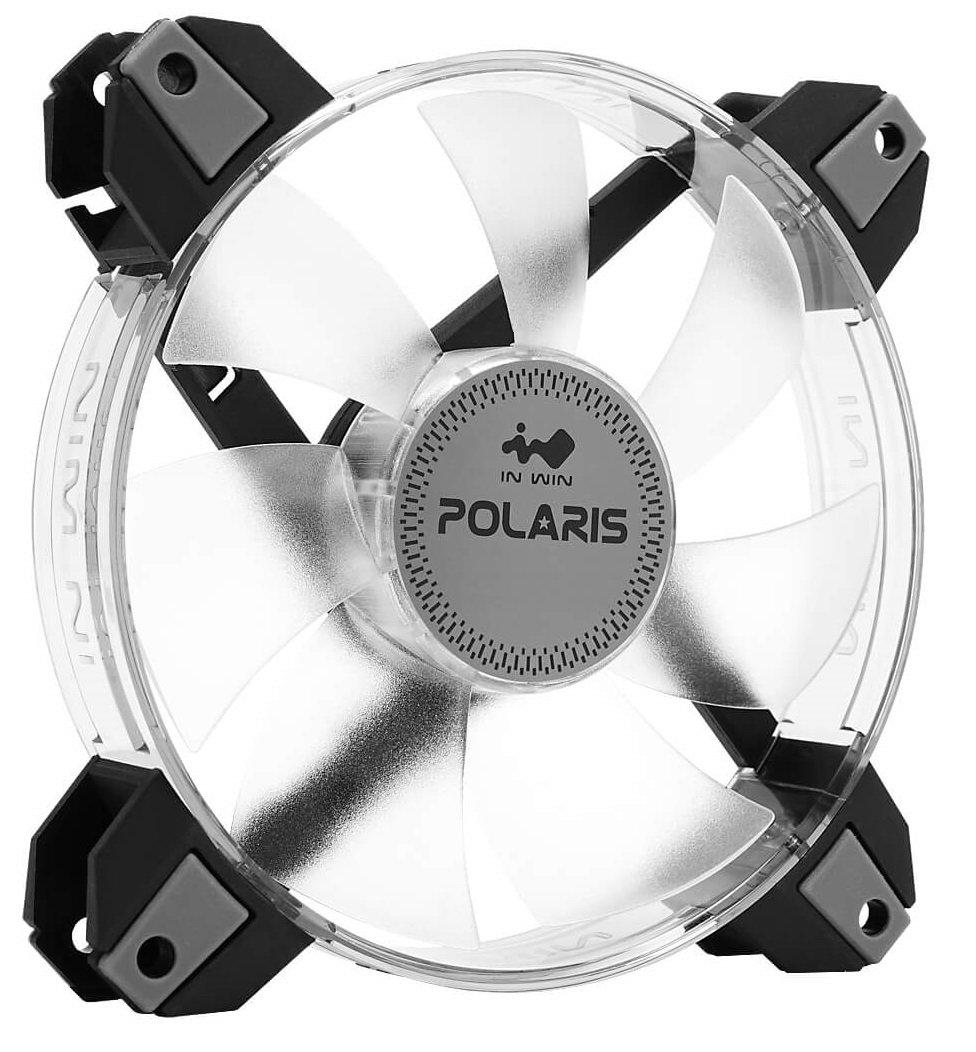 Polaris RGB Fan Twin Kit InWin Polaris RGB Twin Fan Kit Two RGB LED 120mm High Performance Silent Cooling Computer Case Fan with Anti-Vibration Mounting Cooling Clear In Win Development Inc