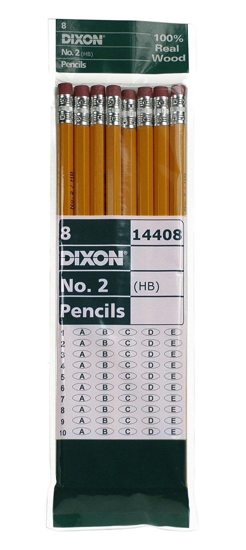 Dixon No. 2 Yellow Pencils, Wood-Cased, Black Core, 144-Count, Boxed (14412) Dixon Ticonderoga