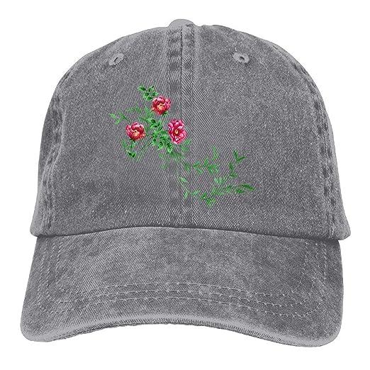 2148319e909 Floral Printing Adjustable Baseball Cap Hats Men Women Adult at Amazon Men s  Clothing store