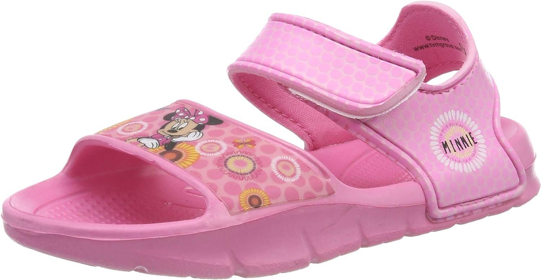 Tailles EU 28 /à 34 Cadeau pour Filles Tongs Disney Minnie Mouse Sandales Classiques pour Filles Sandales L/ég/ères de Vacances Plage Piscine Jardin Chaussures D/ét/é pour Enfants