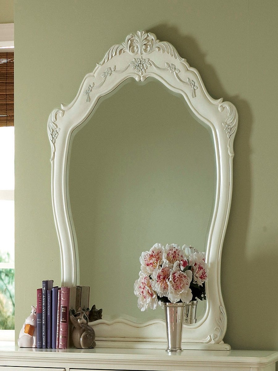 Cinderella Mirror by Home Elegance in Off-White