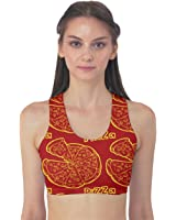 Red Pizza Design Women's Sport Bra