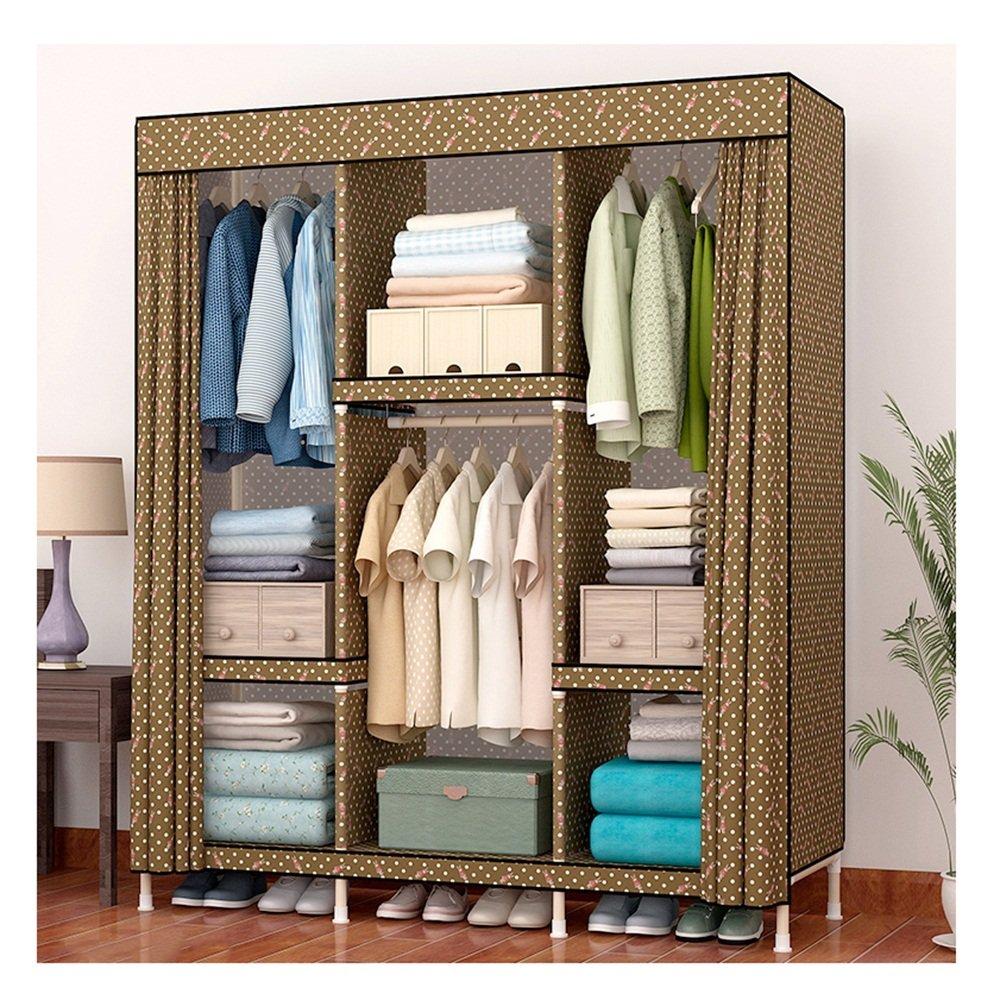 Armoire en tissu - tissu simple Ensemble en bois massif - grand désassemblage adulte Armoire simple moderne - armoire