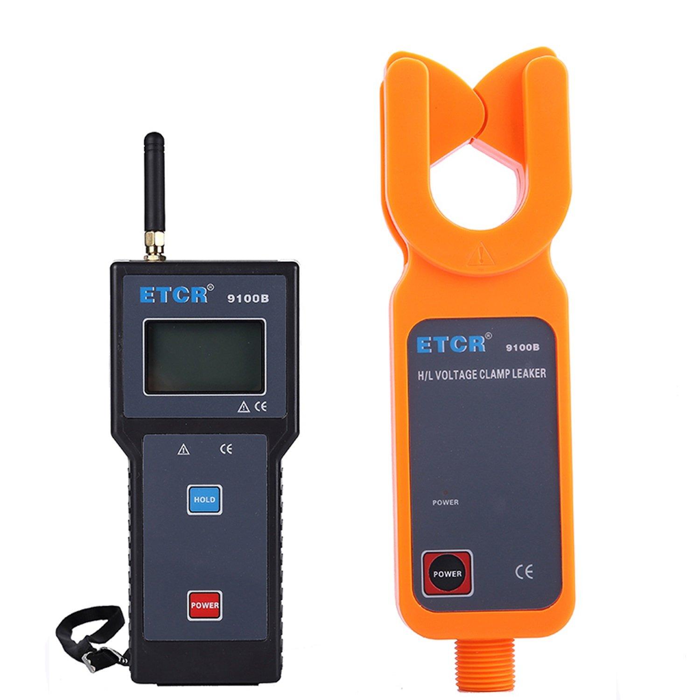 Lanlanmaoyimg Ammeter H/L Voltage Clamp Meter As High-Precision Low-Voltage Clamp Meter and Leakage Current Meter Wireless ETCR9100B Precision Measurement