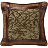 HiEnd Accents LG1860P1 Highland Lodge Framed Tree Pillow, 18x18, 18 x 18