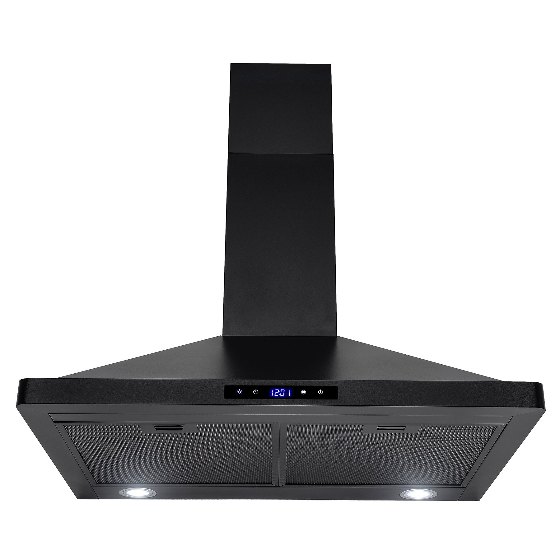 AKDY 30'' Wall Mount Black Finish Stainless Steel Touch Control Panel Kitchen Range Hood Vent Cooking Fan