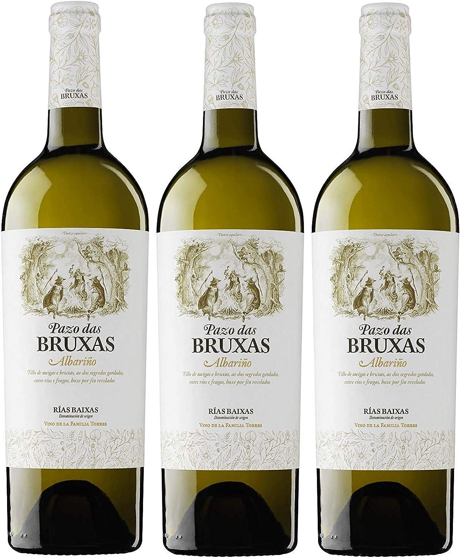 Pazo Das Bruxas, Vino Blanco - 3 botellas de 75 cl, Total: 2250 ml: Amazon.es: Alimentación y bebidas